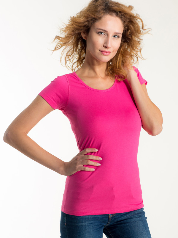 LADIES FITTED T-SHIRT SHORT SLEEVE EF107