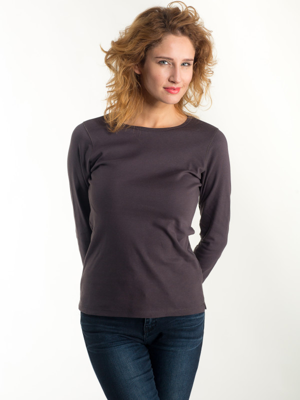 LADIES T-SHIRT INTERLOCK LONG SLEEVE EF201
