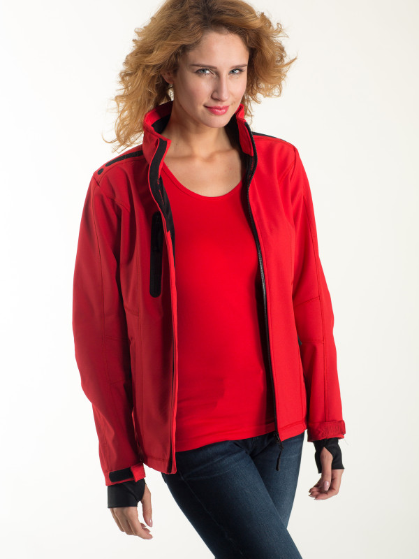 LADIES SOFT SHELL JACKET EF602