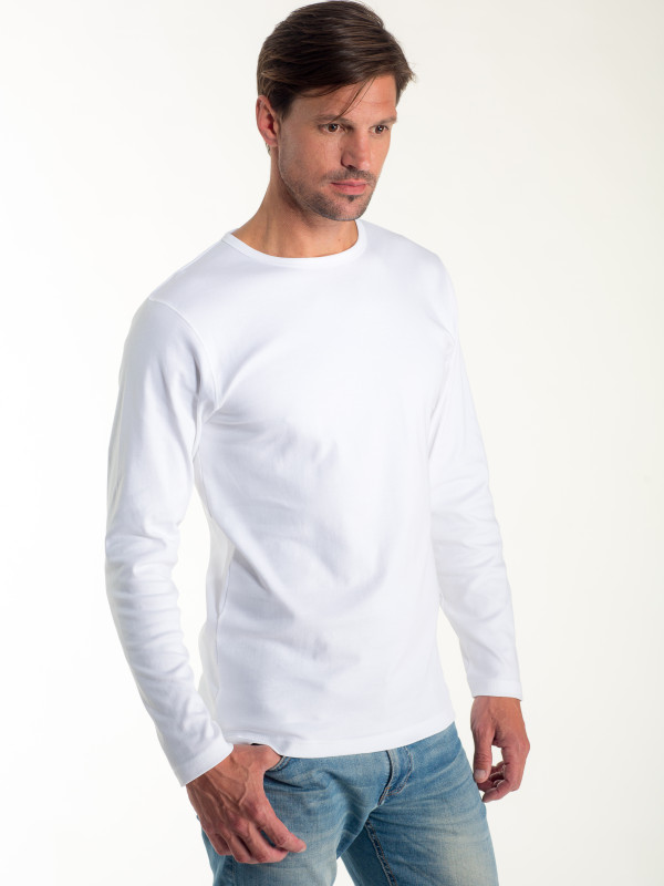 MEN T-SHIRT INTERLOCK LONG SLEEVE EM201